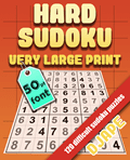 Hard Sudoku Book Very Large Print 50pt font