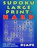 Sudoku LARGE PRINT Hard book