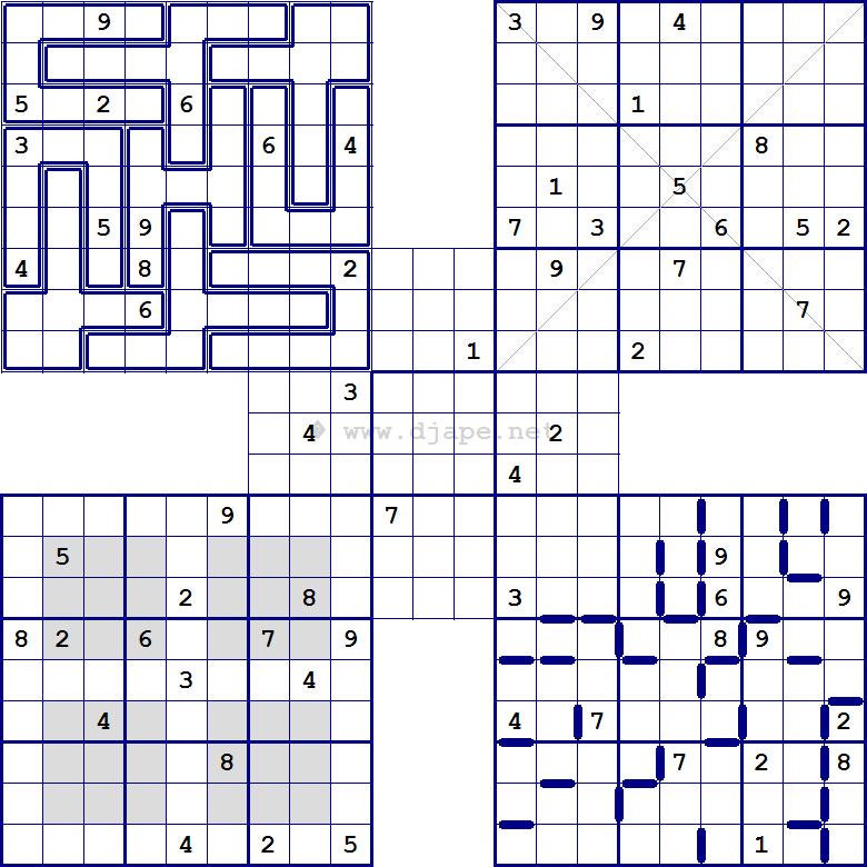graphic regarding Multi Sudoku Printable identified as Multi Sudoku