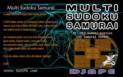 Multi Sudoku Samurai Loco Sudoku book