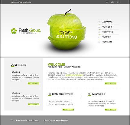 50+ High-Quality Free PSD Web Templates 16