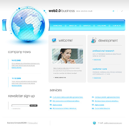 50+ High-Quality Free PSD Web Templates 19