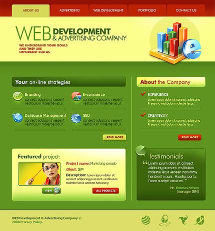 50+ High-Quality Free PSD Web Templates 29