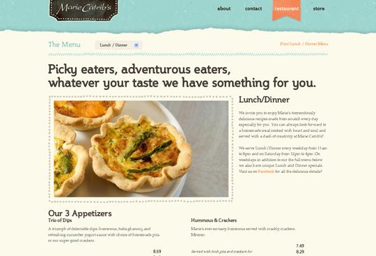 Showcase of Beautiful Restaurant Websites 13