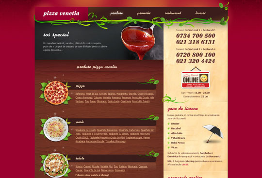 Showcase of Beautiful Restaurant Websites 28