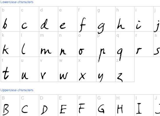 20+ Most Amazing Free Handwritten Fonts for Web designers 4