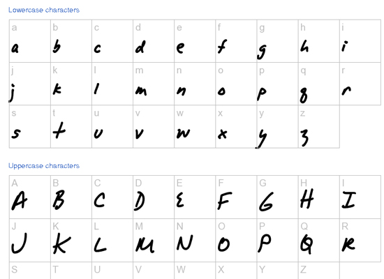 20+ Most Amazing Free Handwritten Fonts for Web designers 7