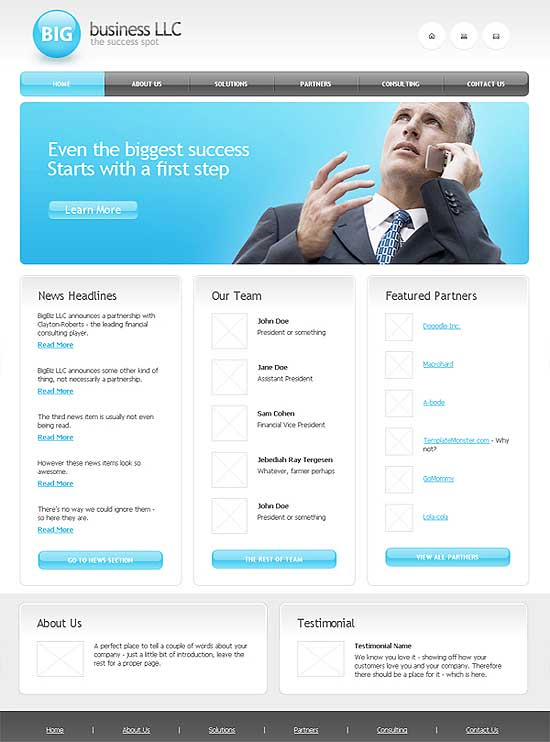 25 Fresh HTML/CSS Web Template for Free Download 1