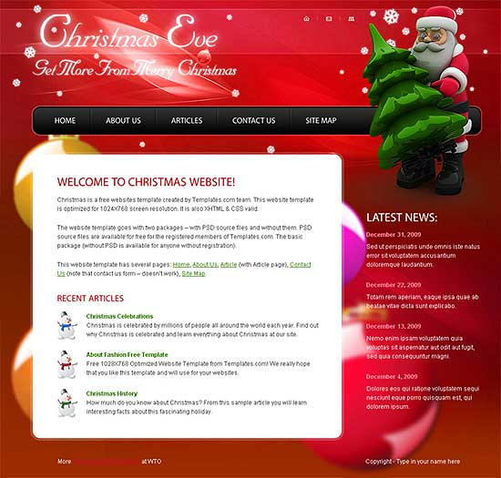 25 Fresh HTML/CSS Web Template for Free Download 2