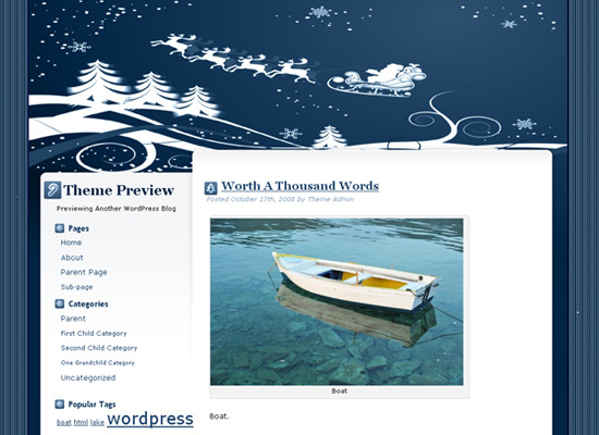 25 Free Web Design Themes for Christmas 1