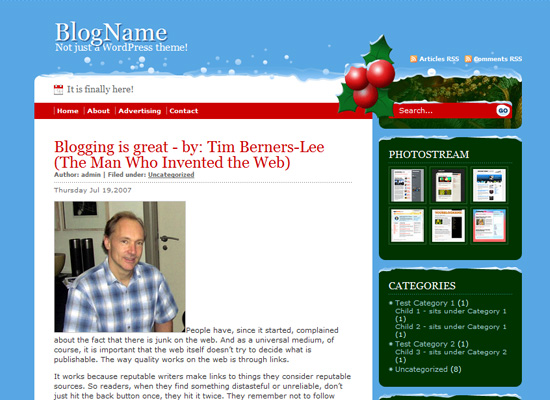 25 Free Web Design Themes for Christmas 7
