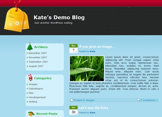 25 Free Web Design Themes for Christmas 11