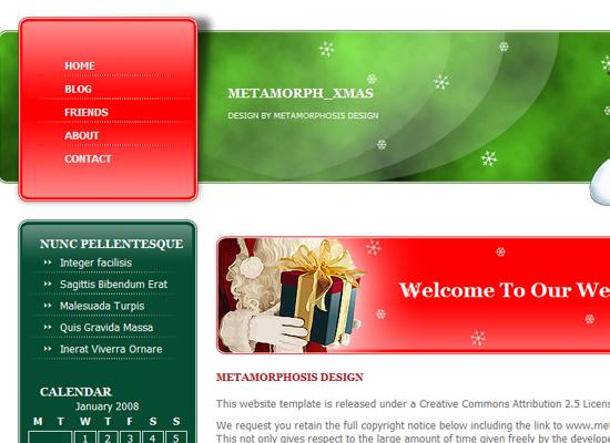 25 Free Web Design Themes for Christmas 14