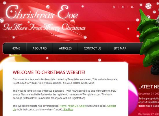 25 Free Web Design Themes for Christmas 15