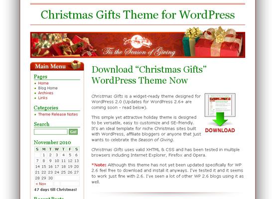 25 Free Web Design Themes for Christmas 3