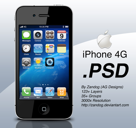 20 iPhone PSD Collection for Your Inspiration 5
