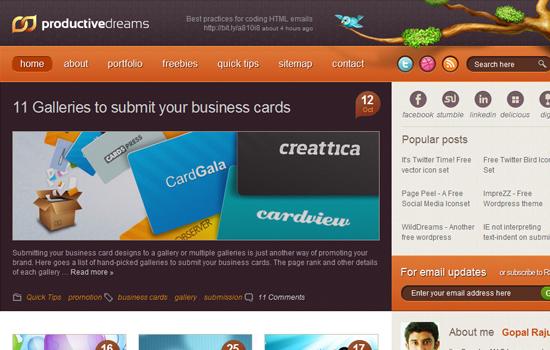 20 Awesome Web Blog Design for Inspiration 1