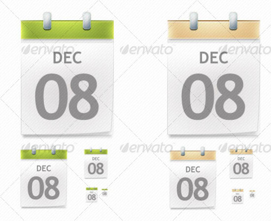 20 Beautiful and Useful Premium Calendar Resources with PSD/EPS File 15