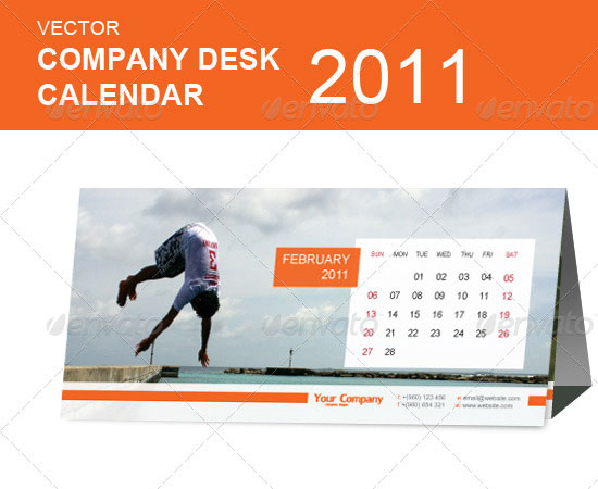 20 Beautiful and Useful Premium Calendar Resources with PSD/EPS File 5