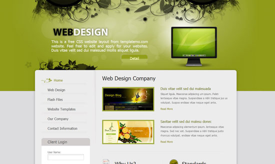 40 High Quality Free XHTML/CSS Web Template for Developers 14