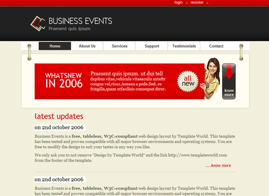 40 High Quality Free XHTML/CSS Web Template for Developers 3