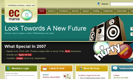 40 High Quality Free XHTML/CSS Web Template for Developers 31