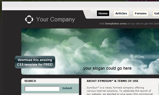 40 High Quality Free XHTML/CSS Web Template for Developers 33