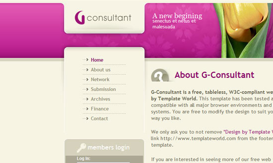 40 High Quality Free XHTML/CSS Web Template for Developers 36
