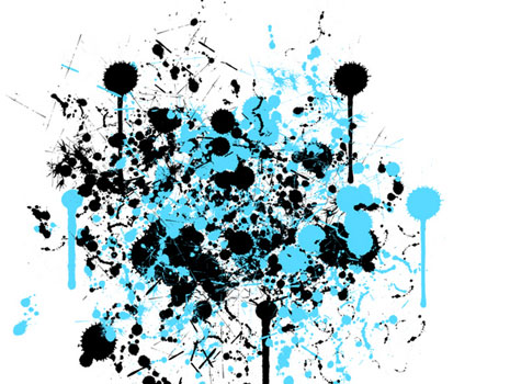 10 Set of Splatter, Spray and Watercolor Free Photoshop Brushes 4