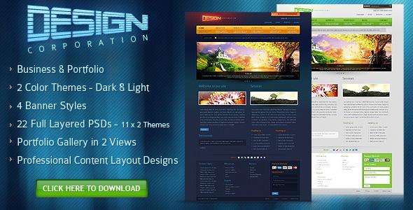 DESIGN CORPORATION - FREE PSD Template by djdesignerlab 1