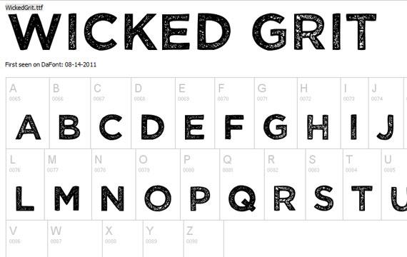 20 Useful Grunge Free Fonts for Web Designers 15