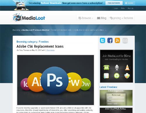 20 Blogs Offering Web Design Freebies 18