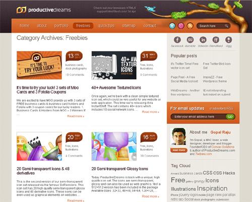 20 Blogs Offering Web Design Freebies 4