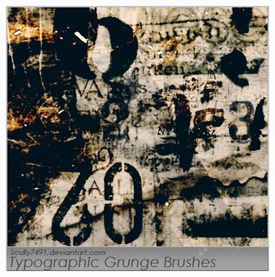 20 Free Photoshop Grunge Brushes 1