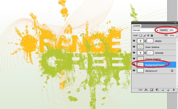 How To Design a Splattered Flyer Title 13