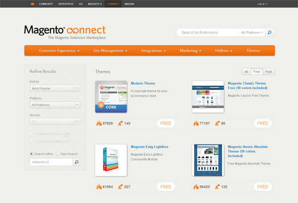Websites to Download Free Magento Templates 7
