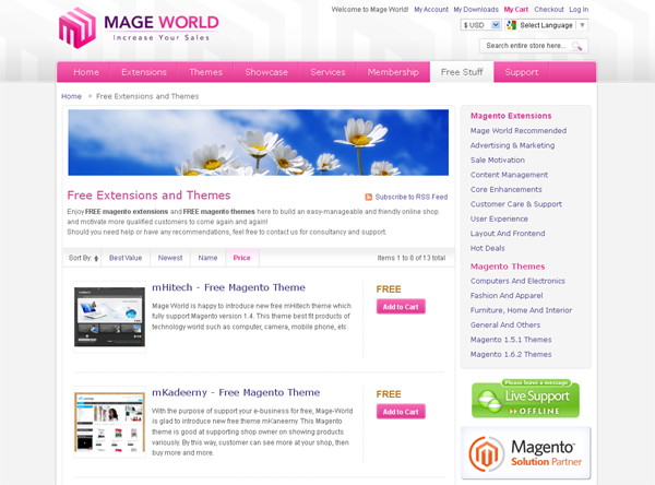 Websites to Download Free Magento Templates 5
