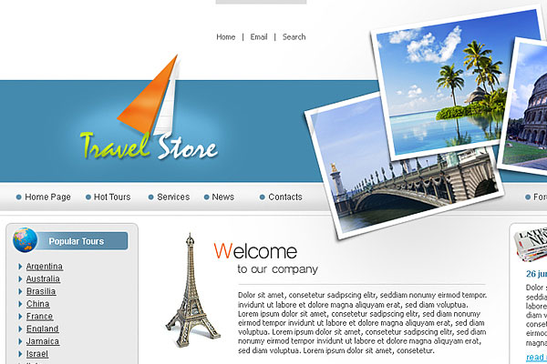 20 Best Free Travel Website Template 1