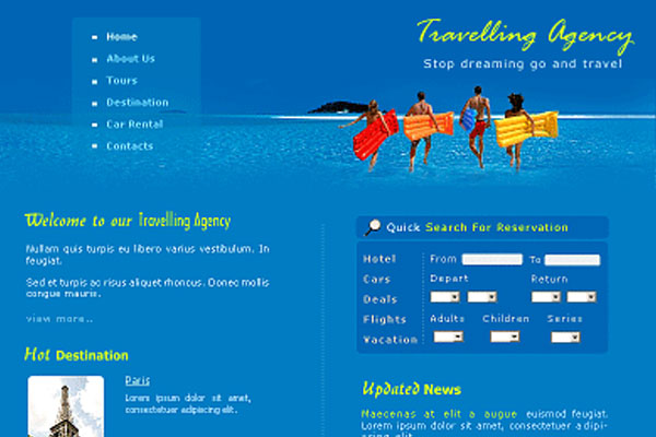 20 Best Free Travel Website Template 17