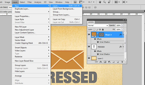 Creating a Letterpress Effect Using Text and Shapes 9