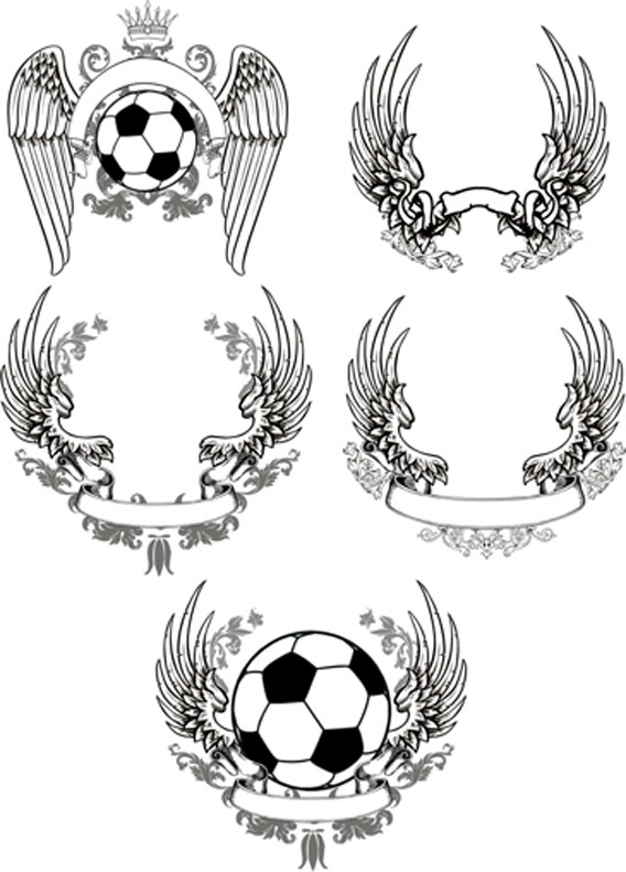 20 Free Set of Ornaments Vector Resources 12