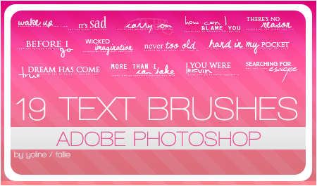 Free Resource: Text Brushes for Designers 16
