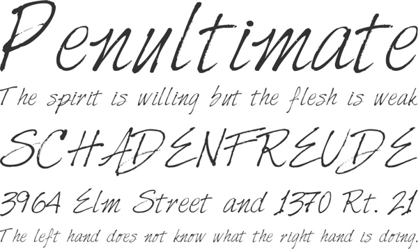 25 Free Brush Fonts For Designers 14
