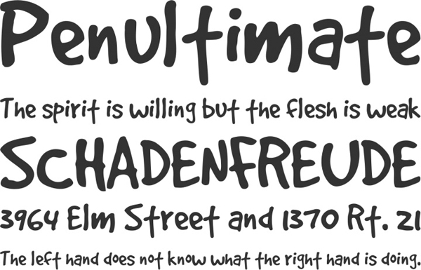 25 Free Brush Fonts For Designers 15
