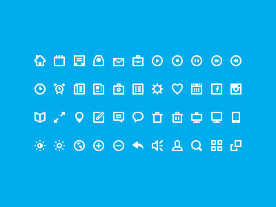 30+ Latest Free Flat Icon Sets For Your Use 17