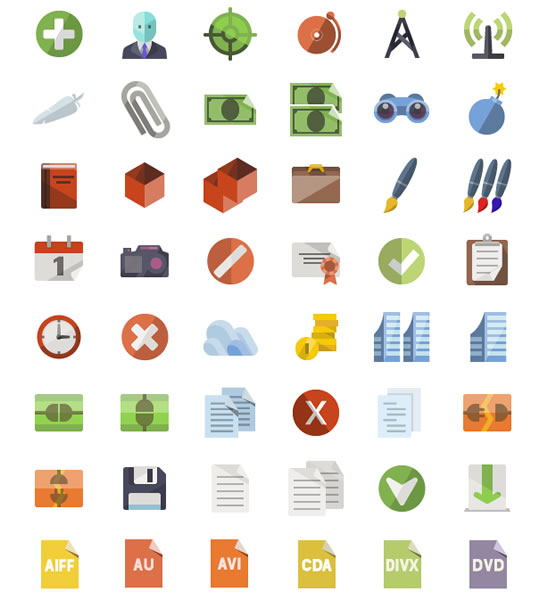 30+ Latest Free Flat Icon Sets For Your Use 20