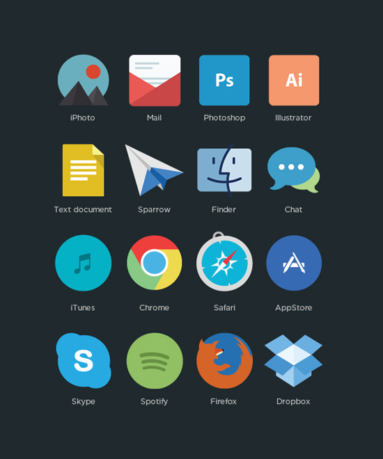 30+ Latest Free Flat Icon Sets For Your Use 23
