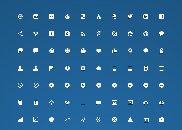 30+ Latest Free Flat Icon Sets For Your Use 4