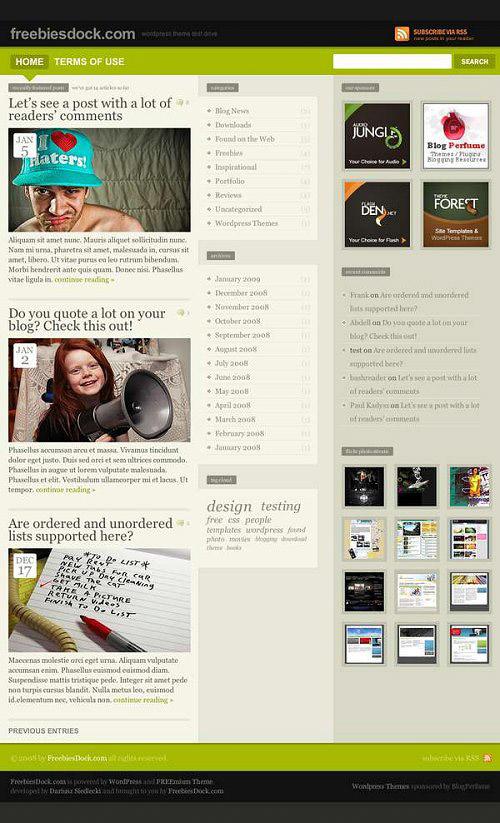 25 Free High Quality WordPress Themes 10