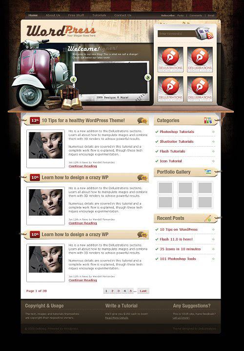 25 Free High Quality WordPress Themes 7